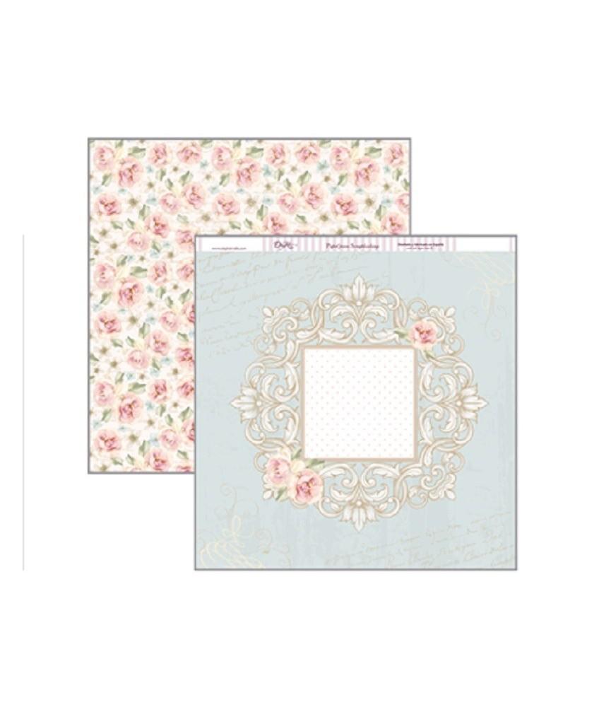 Papel scrap Romance flores 30x30