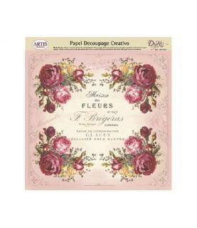 Papel decorativo ramos de rosas