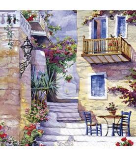 Comprar servilleta para decoupage patio de flores de Conideade