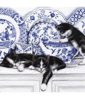 Comprar servilleta para decoupage gatitos vajilla de Conideade