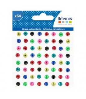 Comprar Pack 64 gemas adhesivas de colores de Conideade