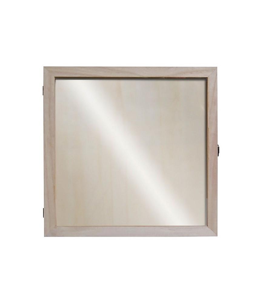 Vitrina de madera 32x32 cm