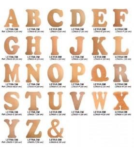 Letras grandes de madera para manualidades 20 cm