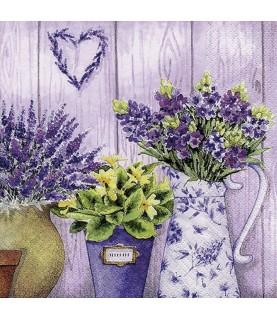 Comprar servilleta para decoupage flores lilas de Conideade