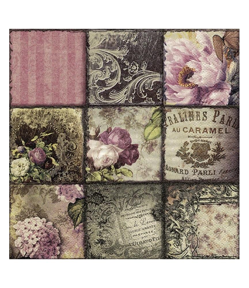servilleta para decoupage vintage collage Paris
