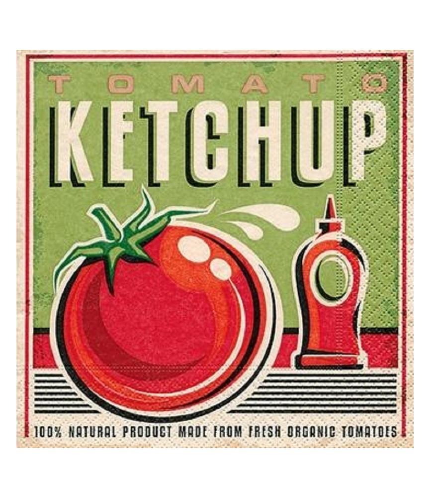 Servilleta para decoupage Ketchup