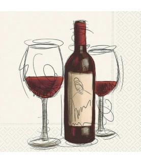 Comprar Servilleta para decoupage Vino tinto de Conideade