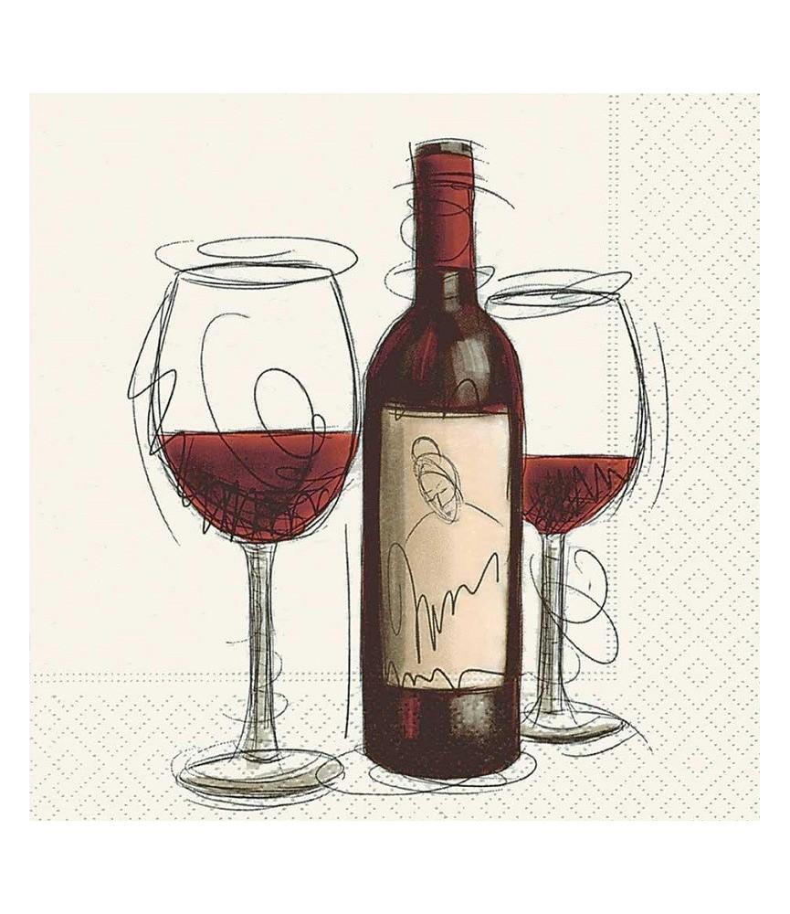 Servilleta para decoupage Vino tinto