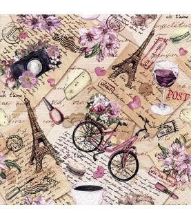 Comprar servilleta para decoupage recuerdos Paris de Conideade