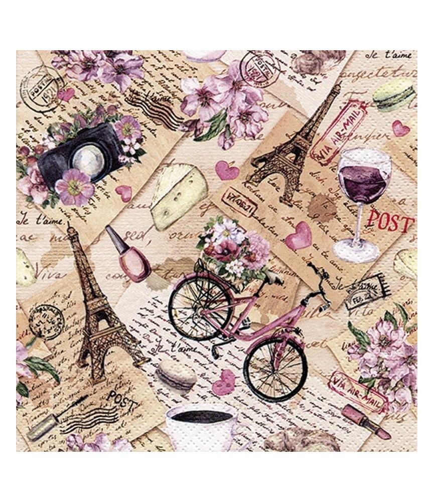 servilleta para decoupage recuerdos Paris