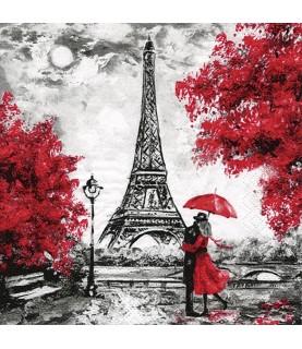 Comprar servilleta para decoupage el amor en Paris de Conideade