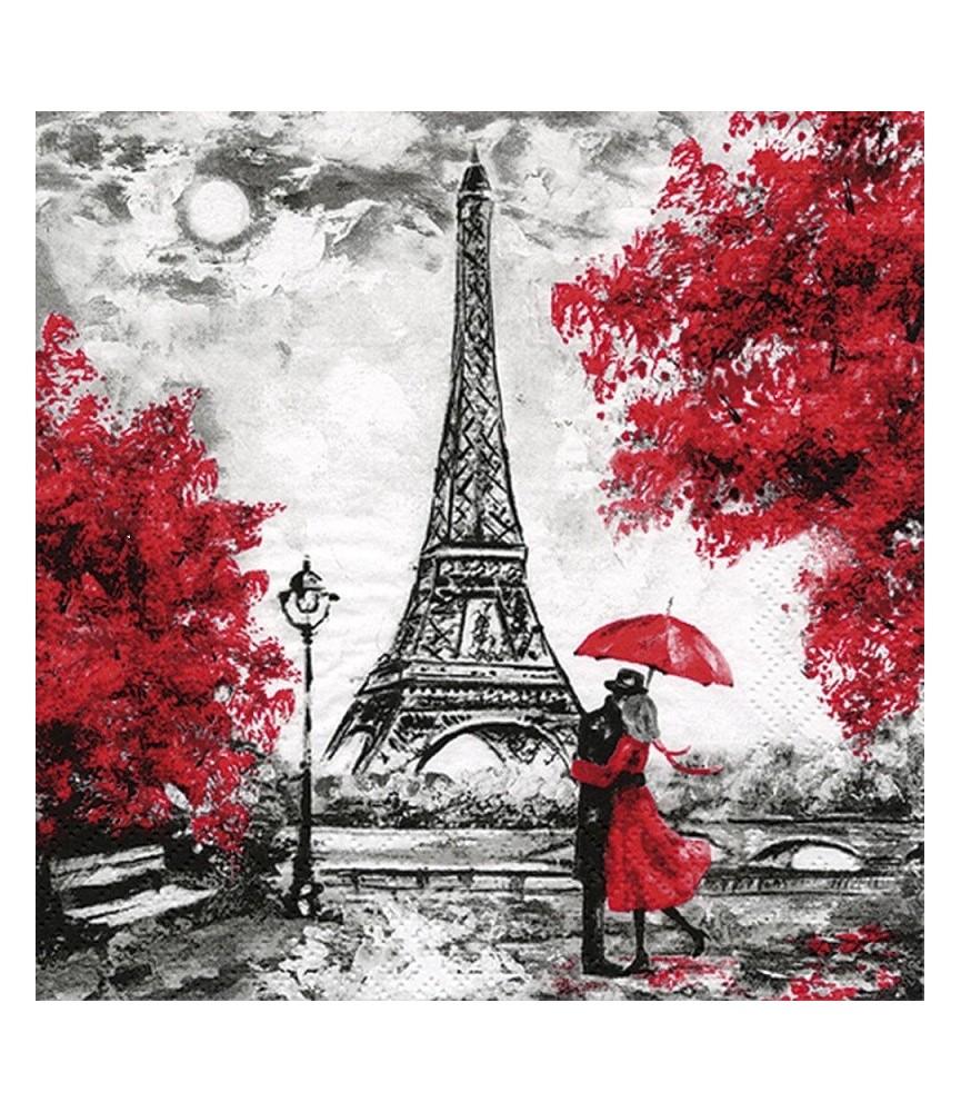 servilleta para decoupage el amor en Paris