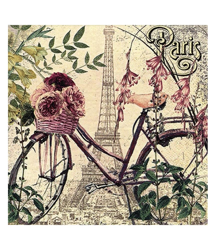 Servilleta para decoupage flores en Paris