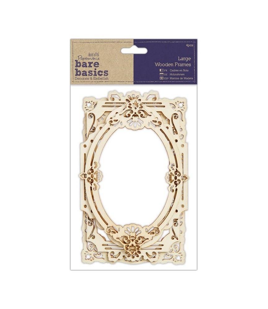 Pack 4 marcos de madera decoración