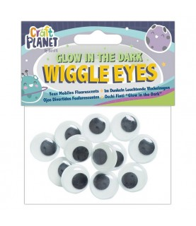 Bolsa de 12 ojos moviles fluorescentes