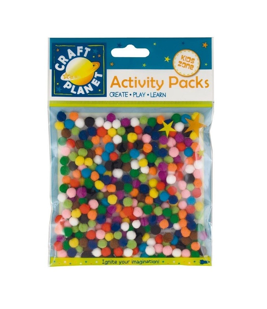 Bolsa de micro pompon de colores