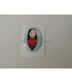 Cabuchón adhesivo 39x26 mm Angelita