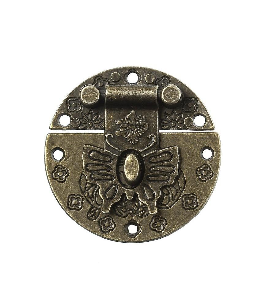 Cerradura redonda color bronce