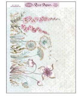 Papel de arroz surtido flores elegantes
