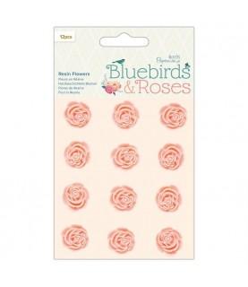 Pack 12 flores de resina rosas