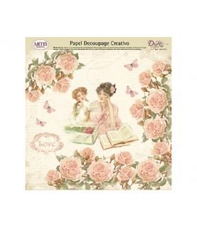 Comprar Papel decorativo señoras y flores de Conideade