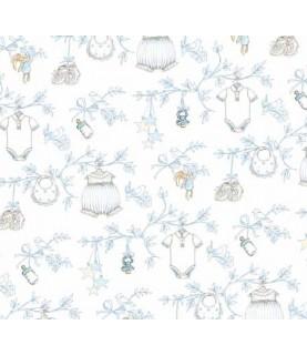 Comprar Tela para decoración vestidos bebe azul de Conideade