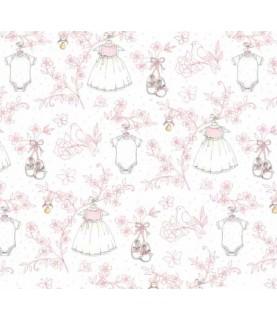 Comprar Tela para decoración vestidos bebe rosa de Conideade