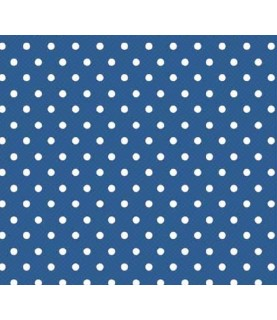 Comprar Tela para decoración topos azul oscuro de Conideade