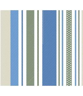Comprar Tela para decoración rayas azul y verde de Conideade