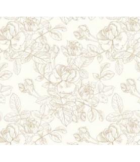 Comprar Tela para decoración flores beige de Conideade