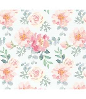 Comprar Tela para decoración flores tonos rosas de Conideade