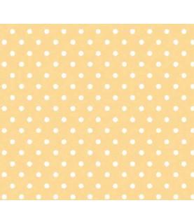 Comprar Tela para decoración topos amarillos de Conideade