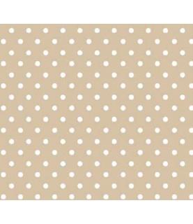 Comprar Tela para decoración topos beige de Conideade