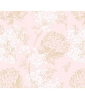 Comprar Tela para decoración Hortensias blancas, rosas y arena de Conideade