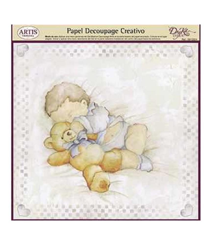 Papel decorativo para pegar bebe dormido