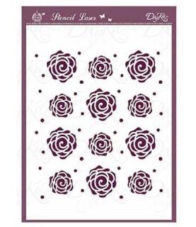 Comprar Plantilla stencil DIN-A5 Mod rosas de Conideade