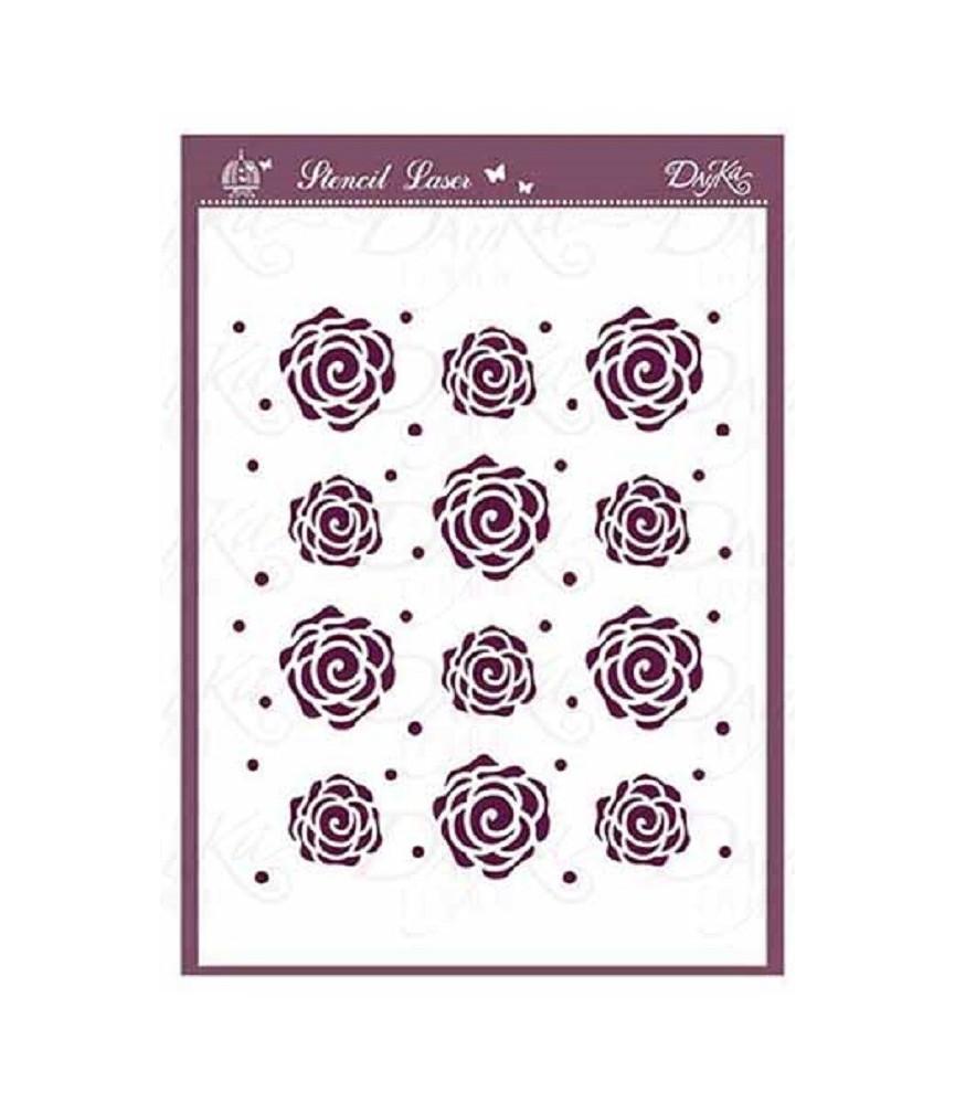 Plantilla stencil DIN-A5 Mod rosas
