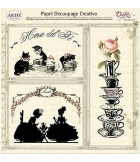 Comprar Papel decorativo para pegar hora del té de Conideade