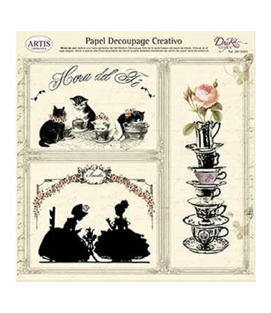 Papel decorativo para pegar hora del té