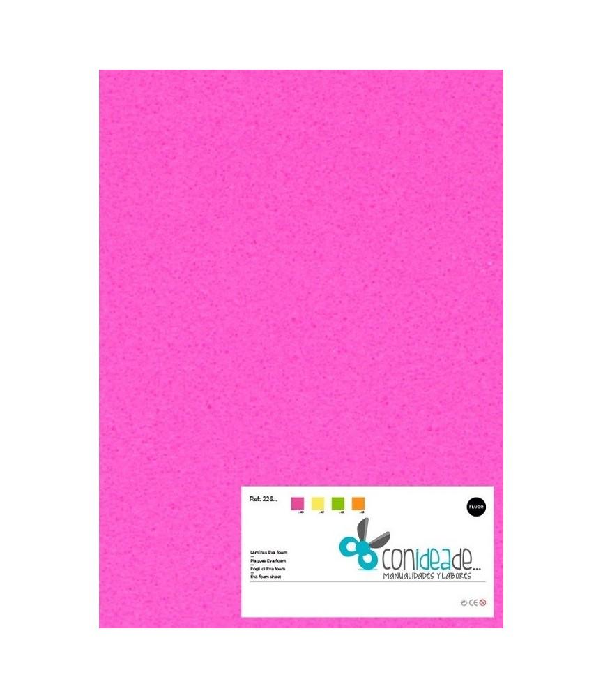 Goma eva adhesiva rosa fluor