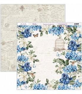 """Comprar Papel scrap Nature in Blue """"Hortensias y jaulas"""" de Conideade"""