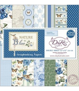 Comprar Kit de 14 papeles scrap colección Nature in Blue de Conideade
