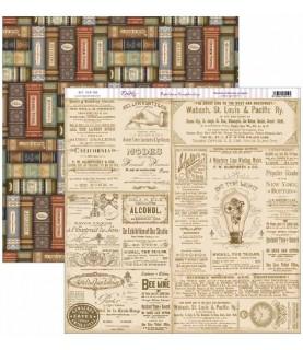 """Comprar Papel scrap Antique Style """"libros"""" de Conideade"""
