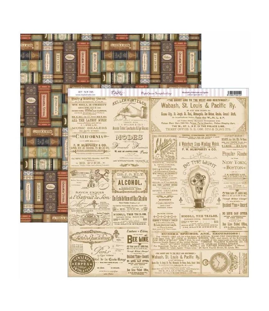 "Papel scrap Antique Style ""libros"""