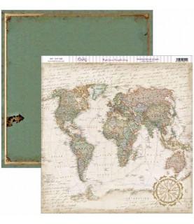 Comprar Papel scrap Antique Style mapa antiguo de Conideade