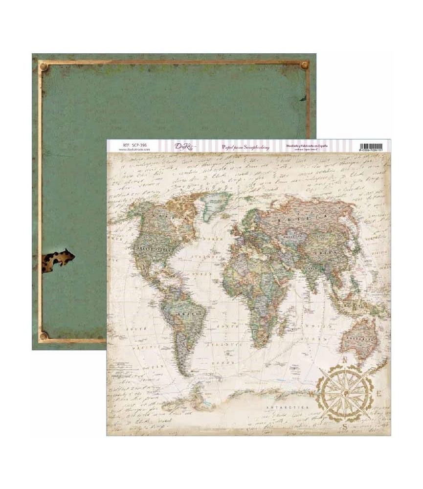 Papel scrap Antique Style mapa antiguo