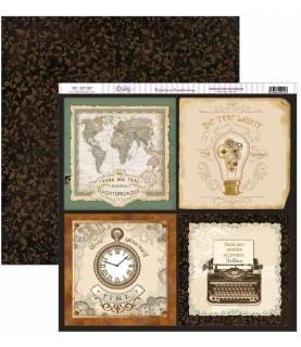 Comprar Papel scrap Antique Style tarjetas grandes de Conideade