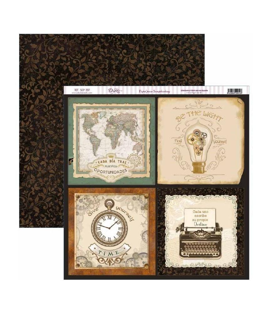 Papel scrap Antique Style tarjetas grandes