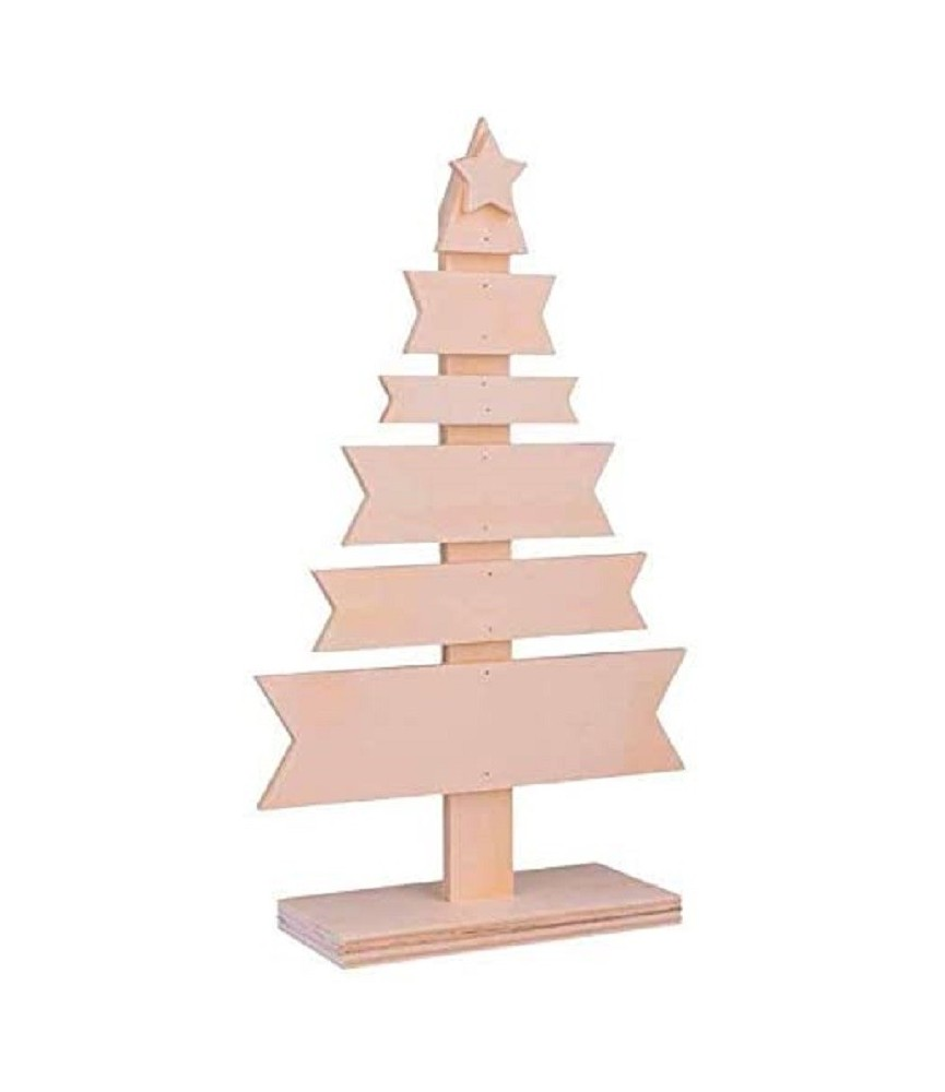 Arbol de navidad de madera carteles