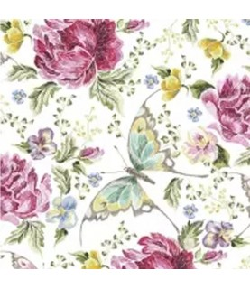 Imagén: Servilleta para decoupage Flores y mariposas